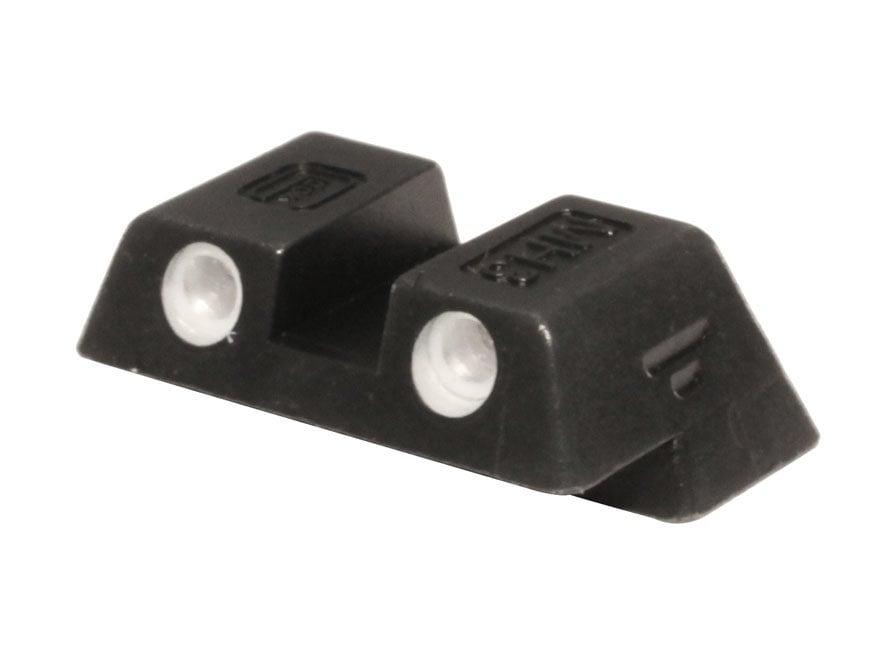 """Glock Rear Sight 6.1mm .240"""" Height Slim Fit Glock 42 and 43 Steel Black Tritium"""