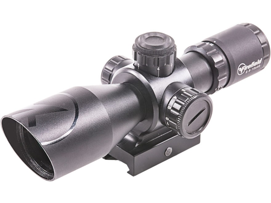 Firefield Barrage Rifle Scope 2.5-10x 40mm Illuminated Mil-Dot Reticle with Integral We...