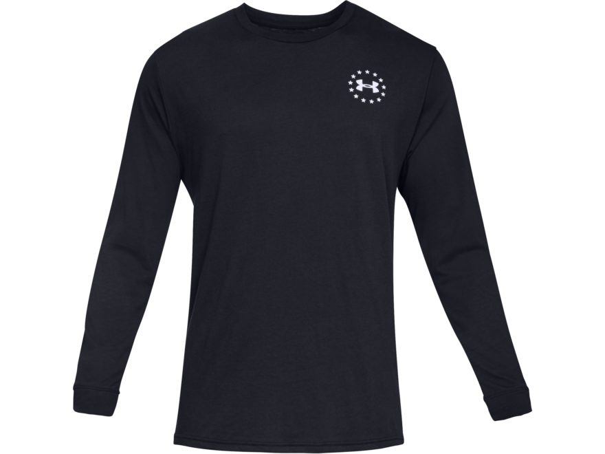 Under Armour Men's Freedom Flag Long Sleeve T-Shirt Charged Cotton