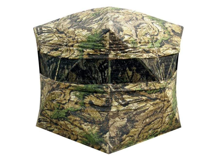 """Primos Double Bull Double Wide Ground Blind 60"""" x 60"""" x 72"""" Polyester Ground Swat Camo"""