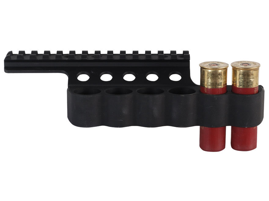 Mesa Tactical Sureshell Shotshell Ammunition Carrier with Picatinny Optic Rail 12 Gauge...