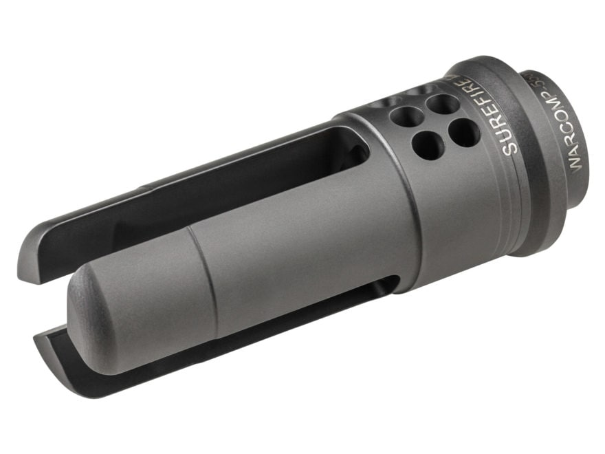 "Surefire WarComp Flash Hider Suppressor Adapter AR-15 1/2""-28 Thread Steel Matte"