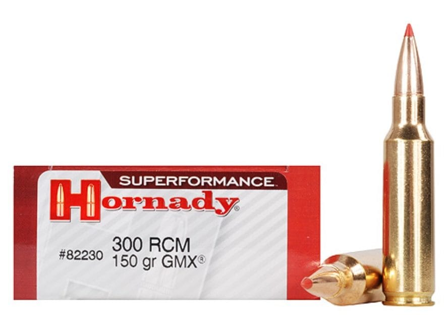 Hornady Superformance GMX Ammunition 300 Ruger Compact Magnum (RCM) 150 Grain GMX Boat ...