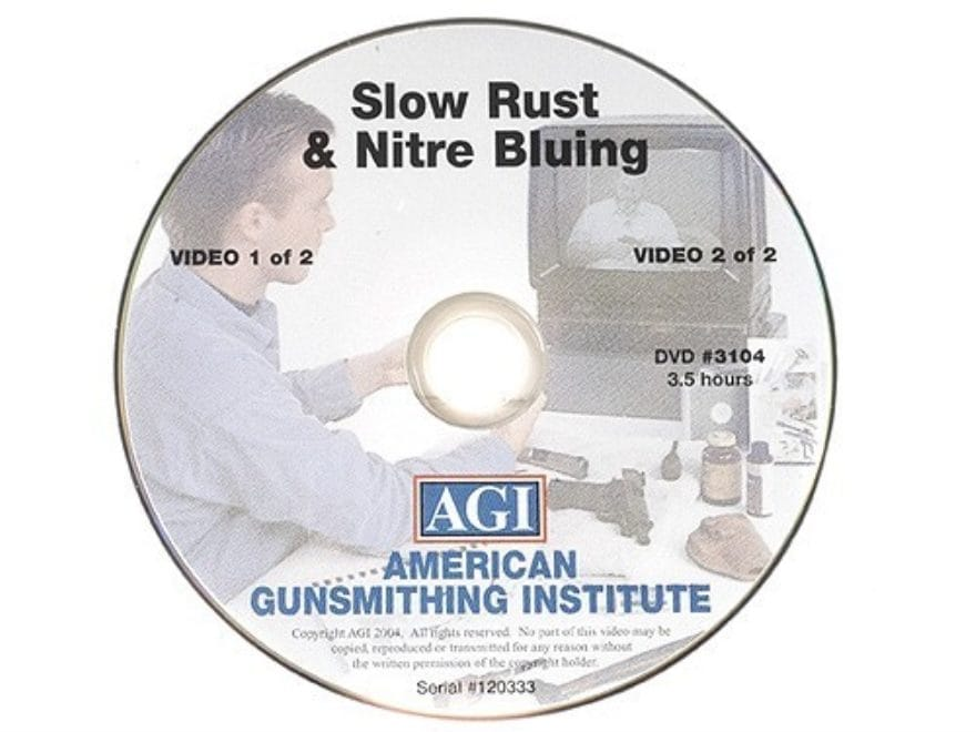 "American Gunsmithing Institute (AGI) Video ""Rust and Nitre Bluing"" DVD"