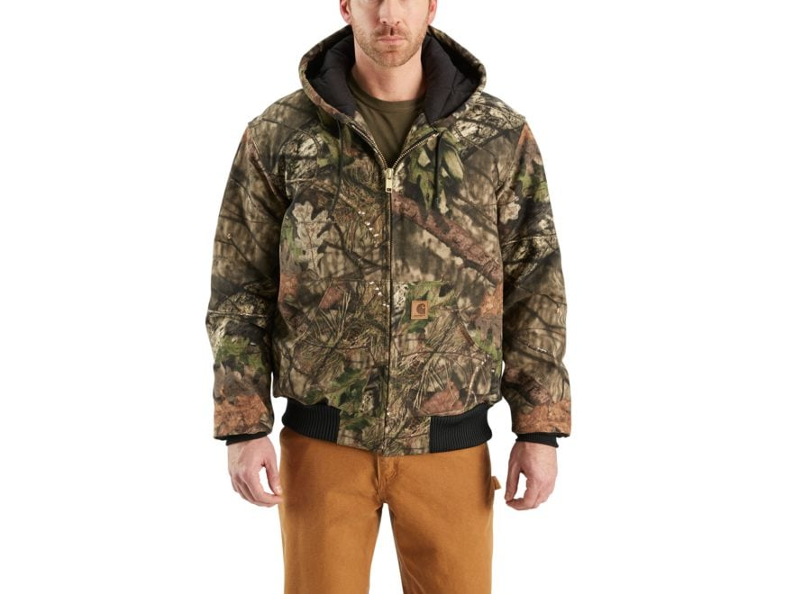Carhartt Men's Quilt-Flannel-Lined Camo Active Heavyweight Jacket Cotton
