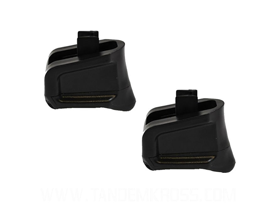 TandemKross Wingman Extended Magazine Base Pad Ruger SR22 Plus 5 Zytel Black Package of 2