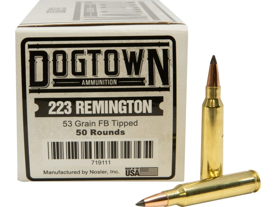 Dogtown Ammunition 223 Remington 53 Grain Tipped Flat Base