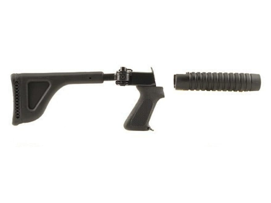 Choate Side Folding Buttstock and Forend Mossberg 500, 590, 600 Steel and Synthetic Black
