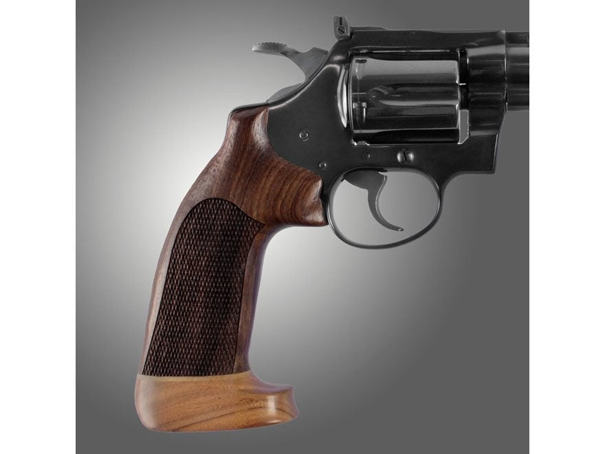 Hogue Fancy Hardwood Grips with Accent Stripe Colt Diamondback Oversize Checkered