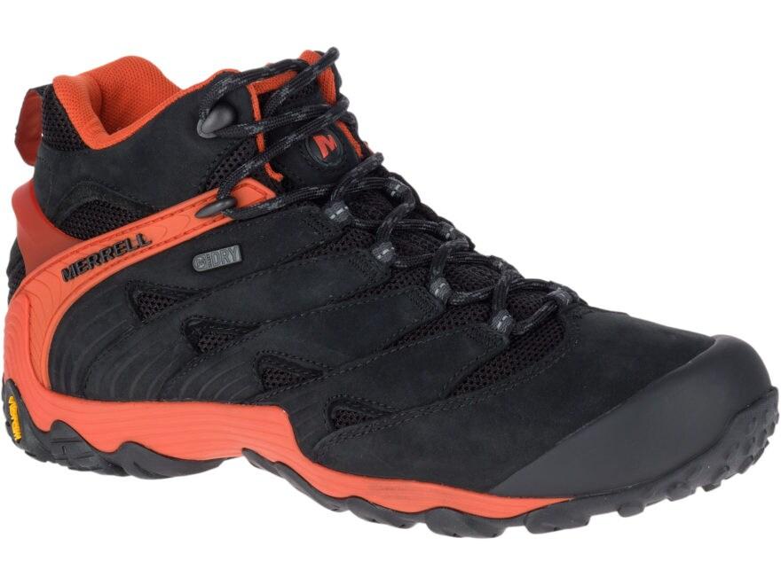 "Merrell Chameleon 7 Mid 5"" Waterproof Hiking Boots Leather/Nylon Men's"