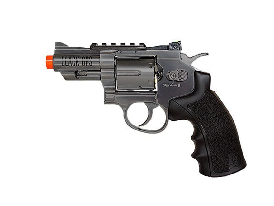 "Black Ops Exterminator Revolver 2.5"" Barrel Air Pistol 177 Caliber BB"