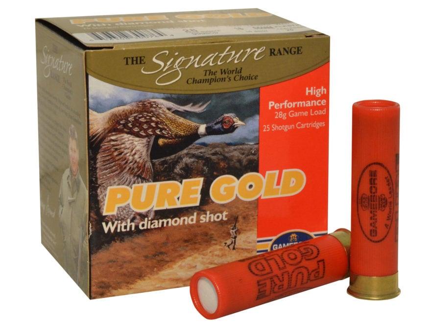 "Kent Cartridge Gamebore Pure Gold Diamond Shot Ammunition 28 Gauge 2-1/2"" 9/16 oz"
