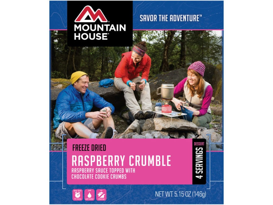 Mountain House Raspberry Crumble Freeze Dried Food 5.15 oz
