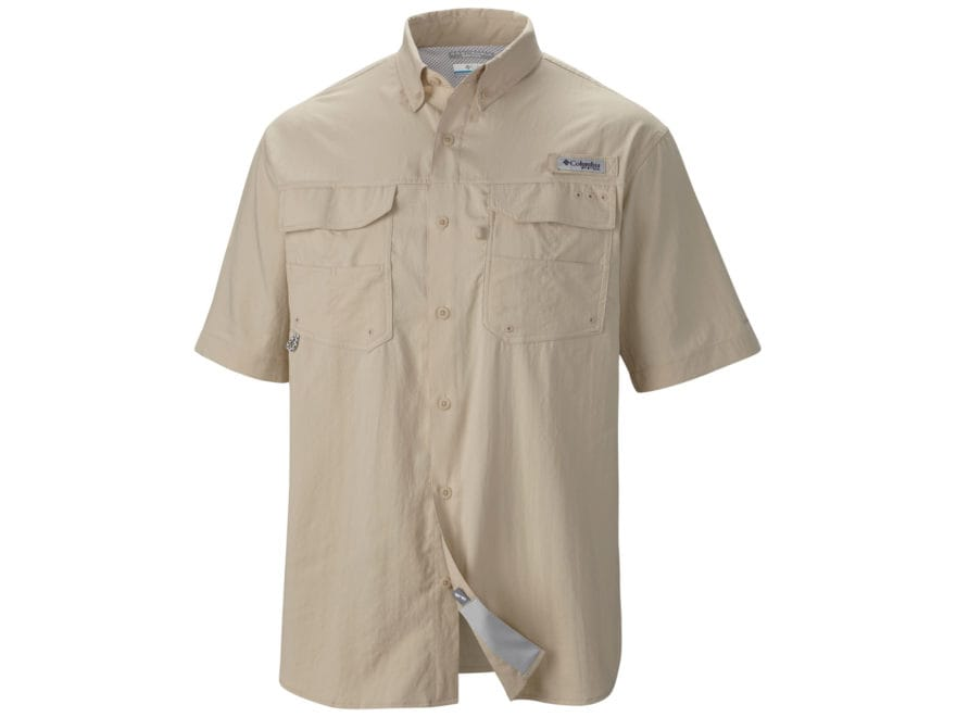 Columbia Men's PFG Blood and Guts III Button-Up Shirt Short Sleeve Polyester