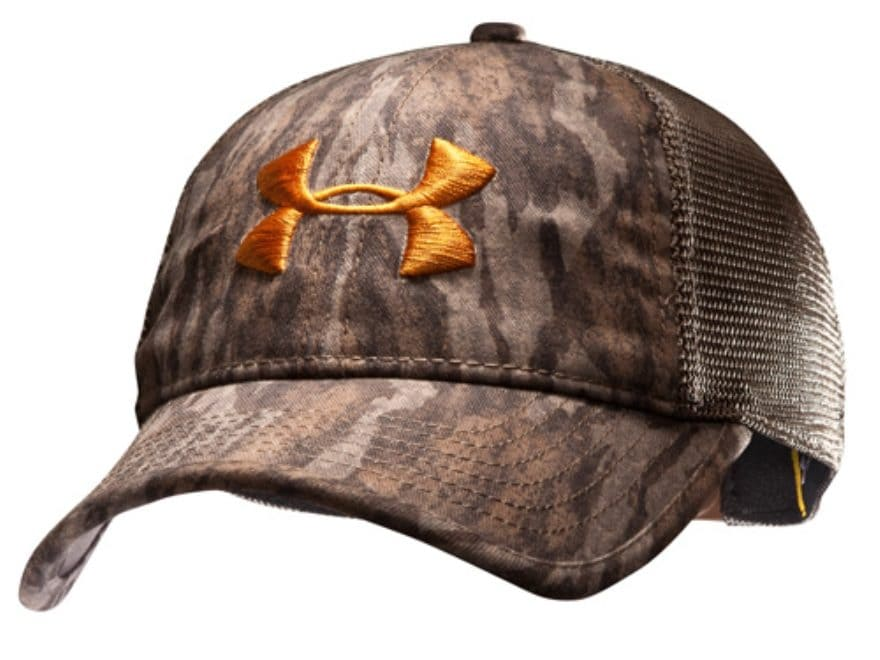 02c72e1c05a Under Armour Mesh Back Antler Cap Polyester Mossy Oak Bottomland Camo.  Alternate Image