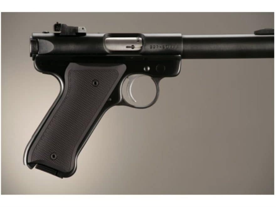 Hogue Extreme Series Grip Ruger Mark II, Mark III Checkered Aluminum Matte Black