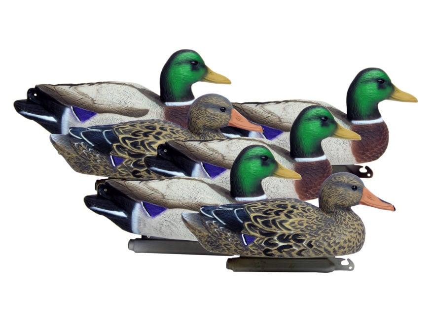 Higdon Standard Mallard Duck Decoy Polymer Pack of 6
