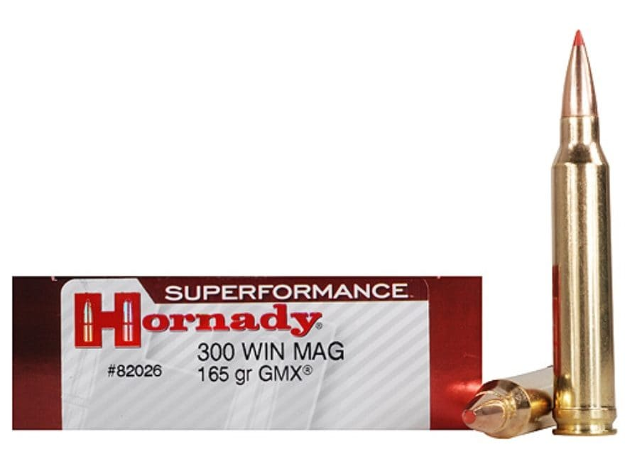 Hornady Superformance GMX Ammunition 300 Winchester Magnum 165 Grain GMX Boat Tail Lead...