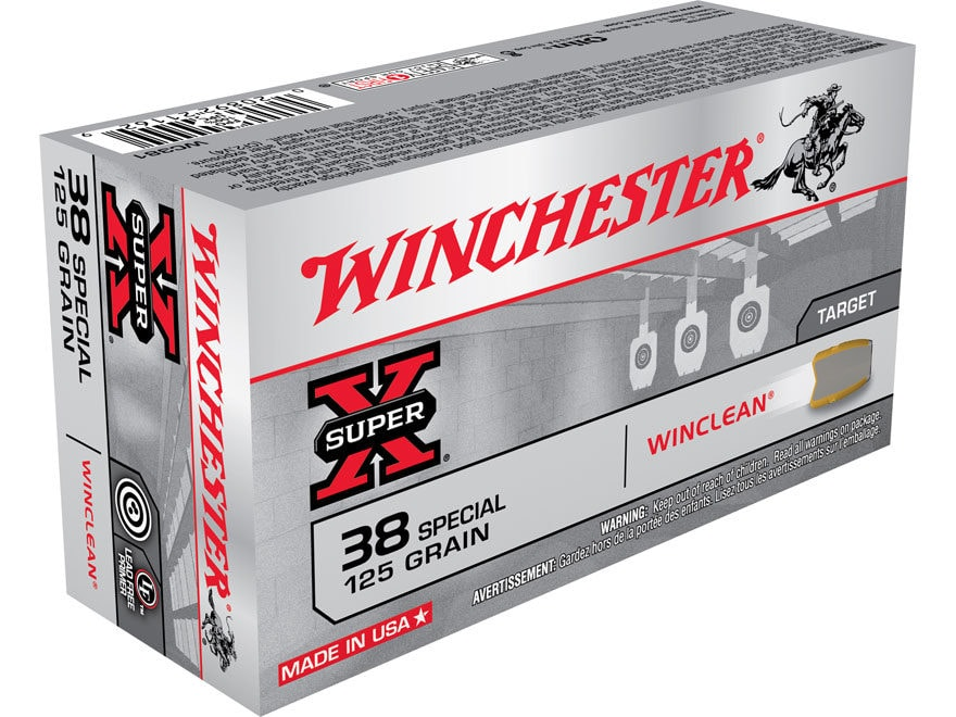 Winchester WinClean Ammunition 38 Special 125 Grain Jacketed Soft Point