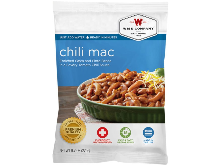 Wise Company Long Term 25 Year 4 Serving Chili Macaroni Freeze Dried Food
