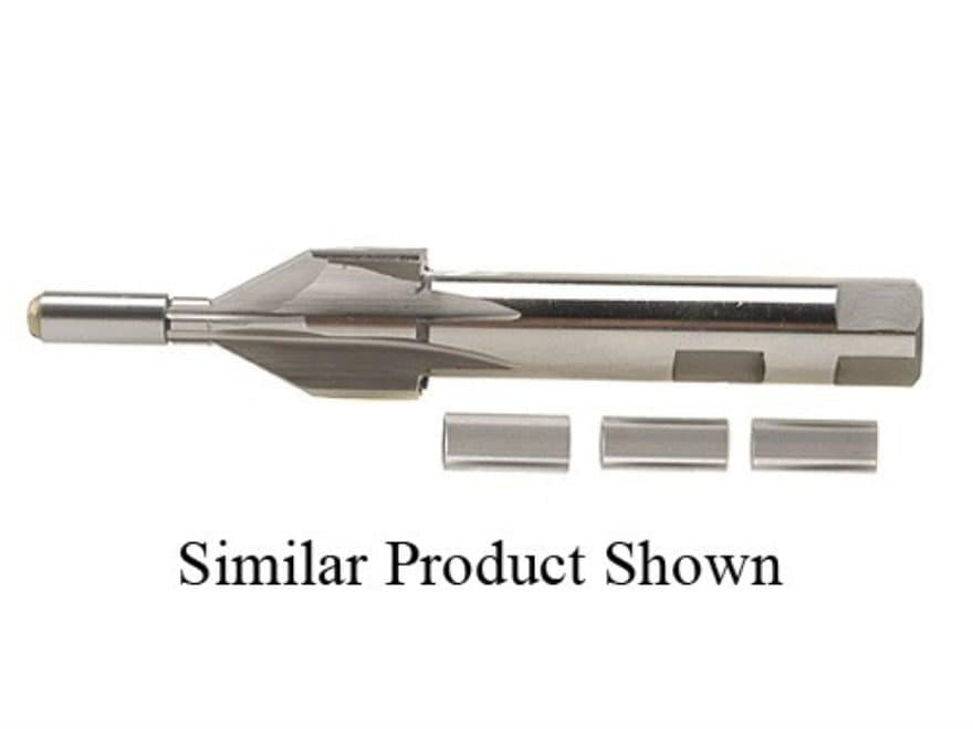 PTG 60-Degree Center Reamer with 30 Caliber and Up 4 Pilot Set (.300, .312, .330, .366)