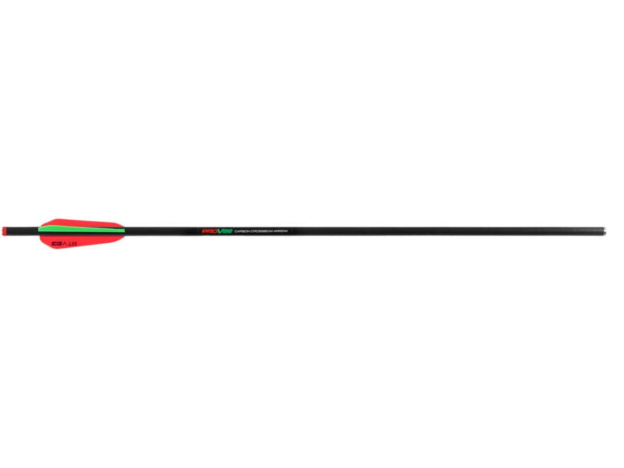 "TenPoint Carbon Pro-V 22"" Carbon Crossbow Bolt 4"" Vanes Black Pack of 6"