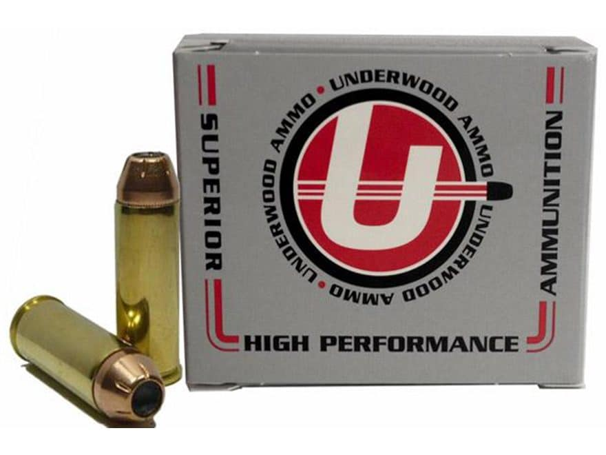Underwood Ammunition 45 Colt (Long Colt) +P 250 Grain Hornady XTP Jacketed Hollow Point...