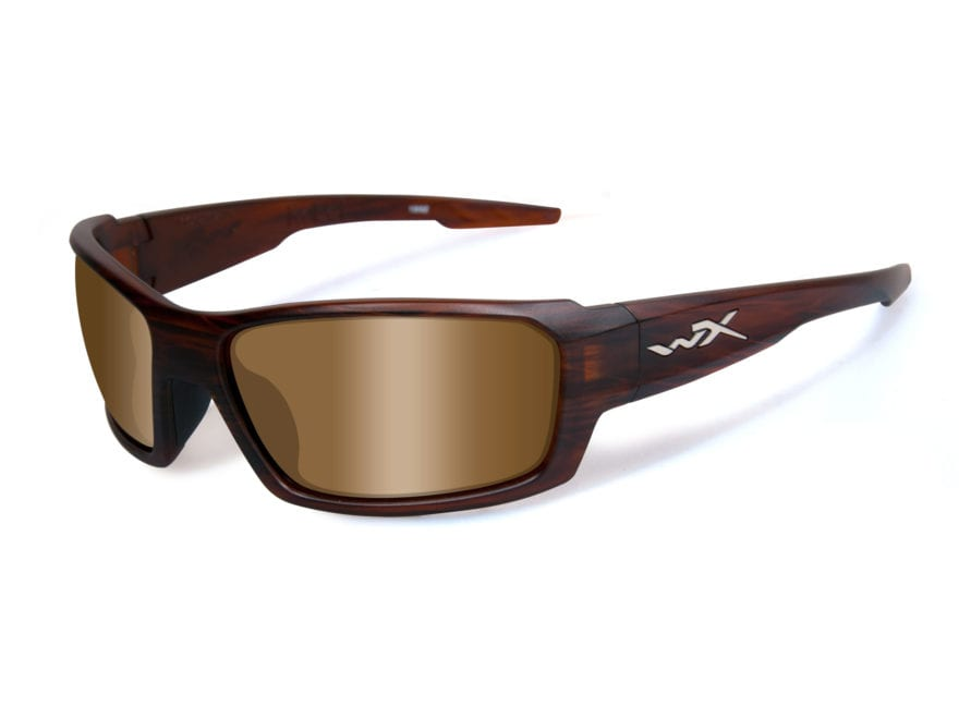 Wiley X WX Rebel Polarized Sunglasses Layered Tortise Frame Bronze Lens