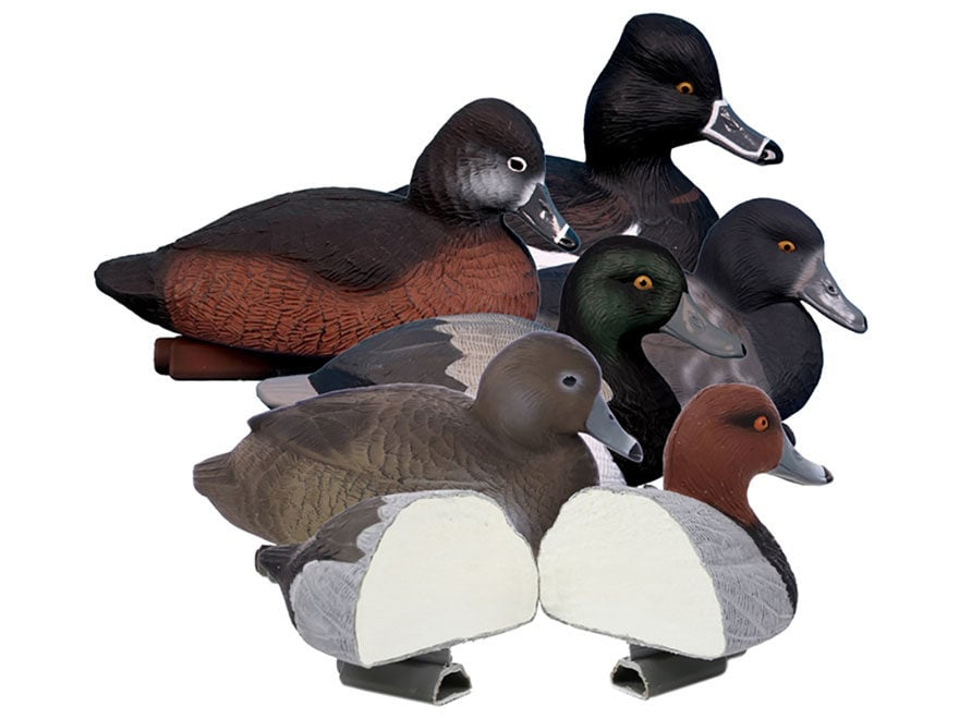 Higdon Standard Foam Filled Diver Pack Duck Decoy Polymer Pack of 6