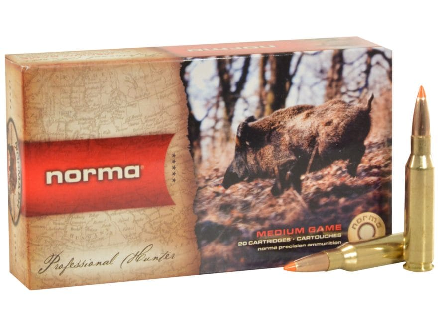 Norma USA TipStrike Ammunition 7mm-08 Remington 160 Grain Polymer Tip Flat Base Box of 20