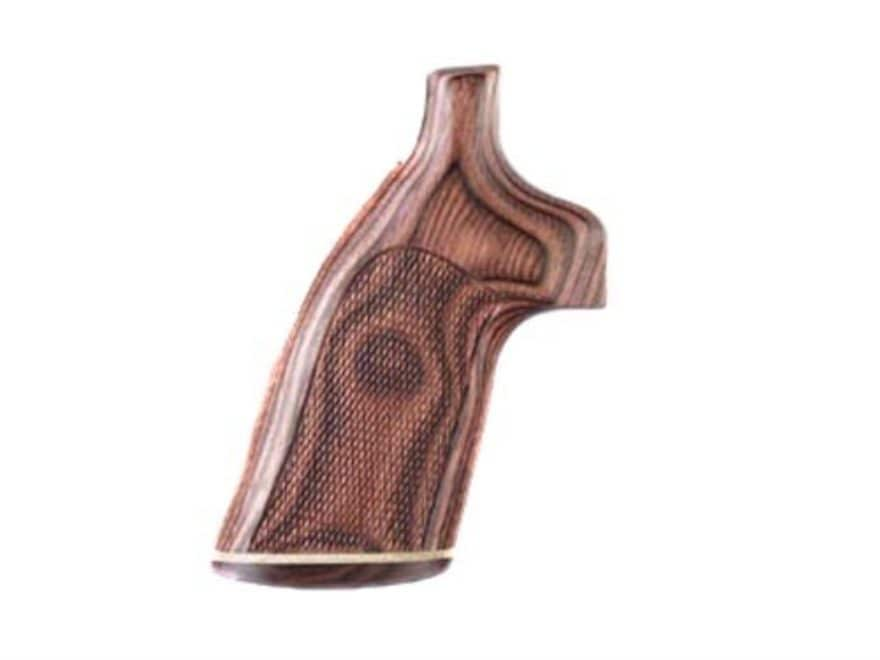 Hogue Fancy Hardwood Grips with Accent Stripe Colt Trooper Mark III Checkered Rosewood ...