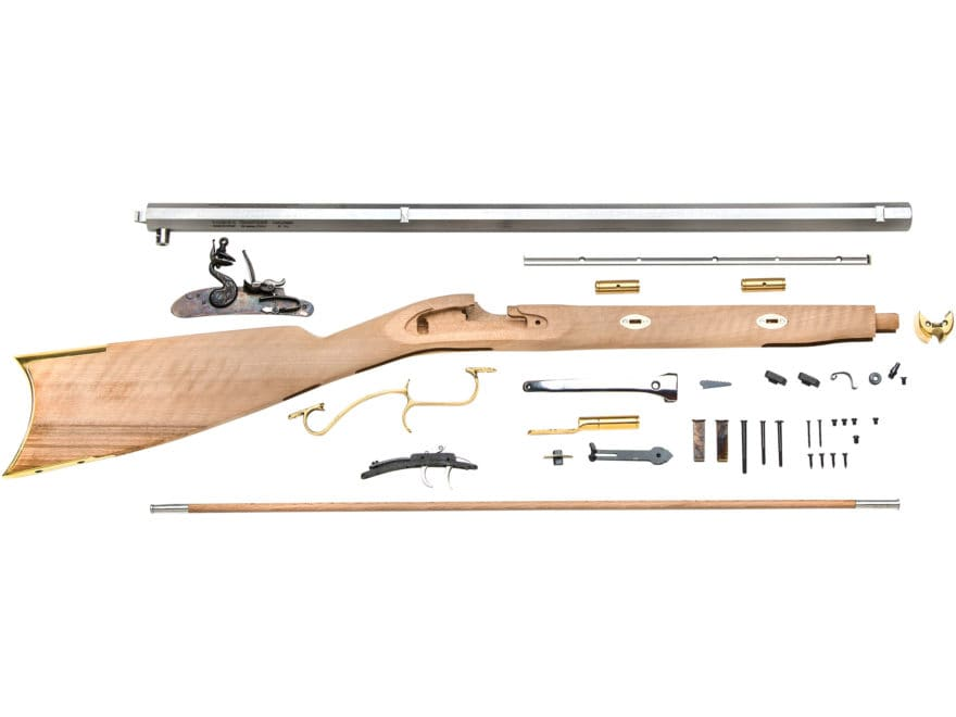 "Traditions Prairie Hawken Muzzleloading Rifle Kit 50 Caliber Flint 28"" Blue Barrel Sele..."