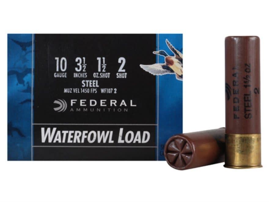 "Federal Speed-Shok Waterfowl Ammunition 10 Gauge 3-1/2"" 1-1/2 oz Non-Toxic Steel Shot"