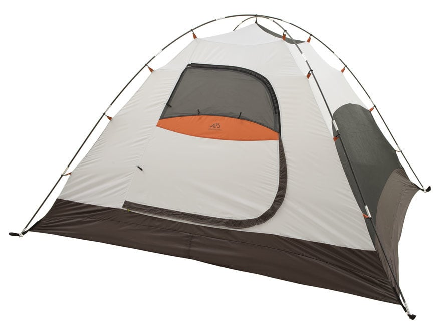 """ALPS Mountaineering Meramac 4 Dome Tent 7'6"""" x 8'6"""" x 5' Polyester Green, White and Orange"""