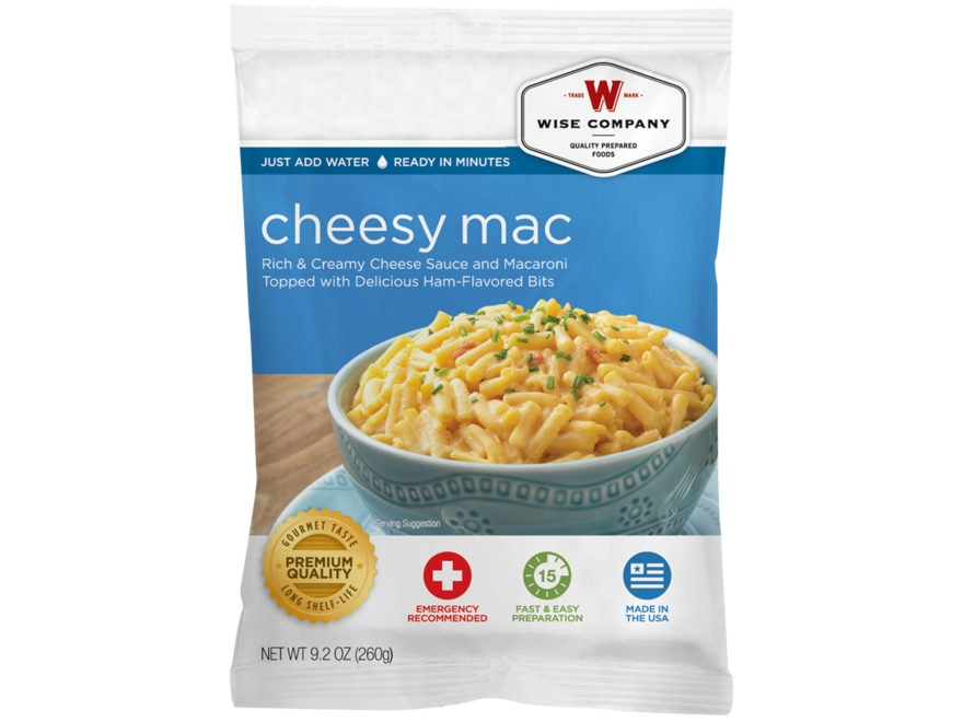 Wise Company Long Term 25 Year 4 Serving Cheesy Macaroni Freeze Dried Food