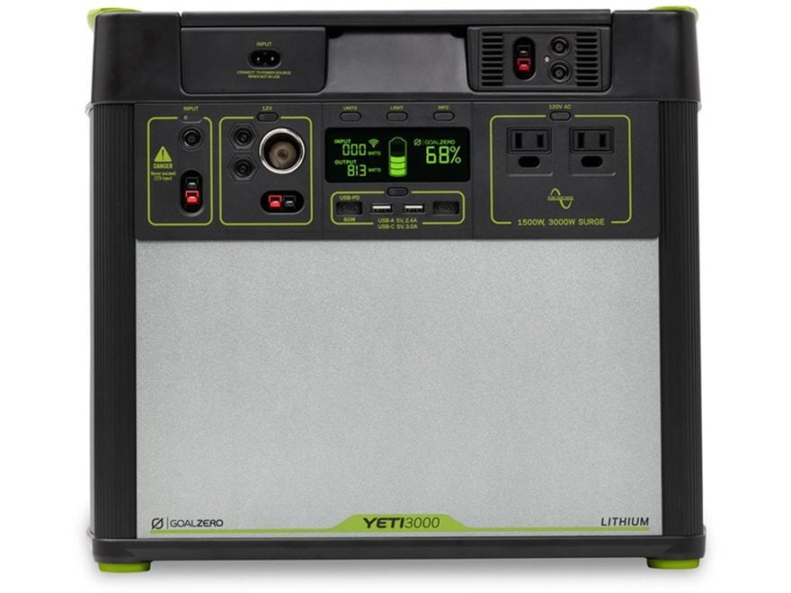 GoalZero Yeti 3000 Lithium V2 Portable Solar Power Station with Wifi