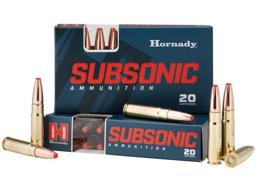Hornady Subsonic Ammunition 300 AAC Blackout 190 Grain Sub-X Subsonic Flex Tip eXpandin...