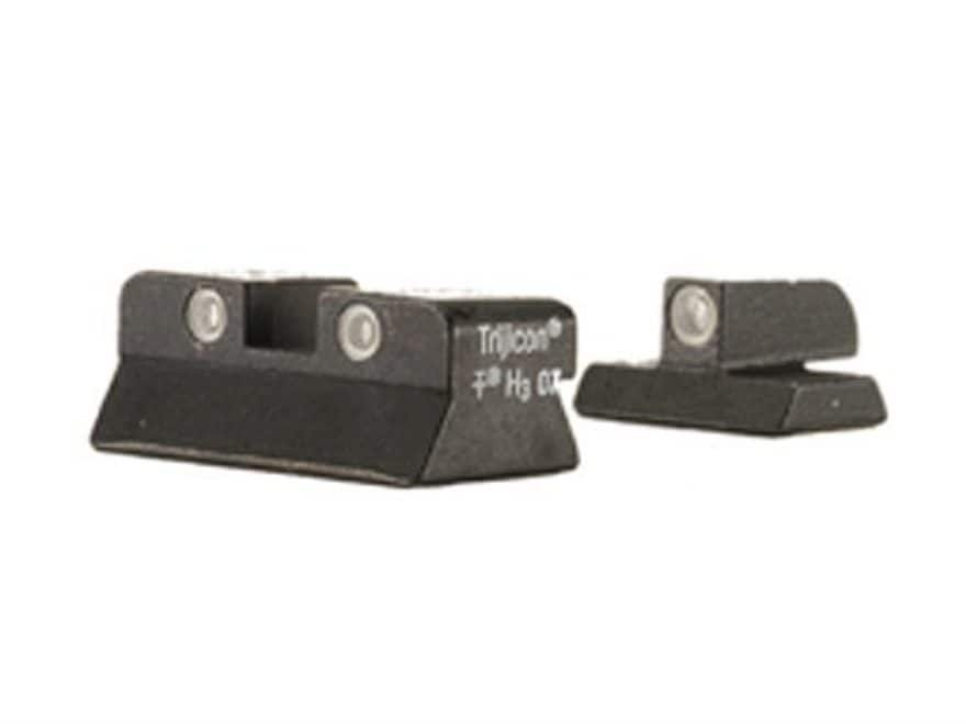 Trijicon Bright & Tough Night Sight Set Browning Hi-Power Steel Matte 3-Dot Tritium Green