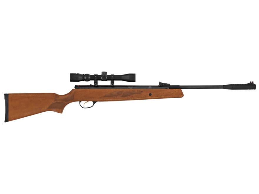 Hatsan Model 95 Break Barrel Air Rifle 22 Caliber Pellet Walnut Stock Black Barrel with...