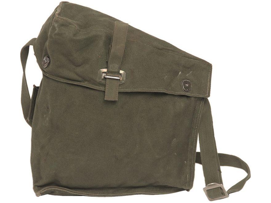 Military Surplus Swedish M51 Gas Mask Bag Grade 2 Olive Drab