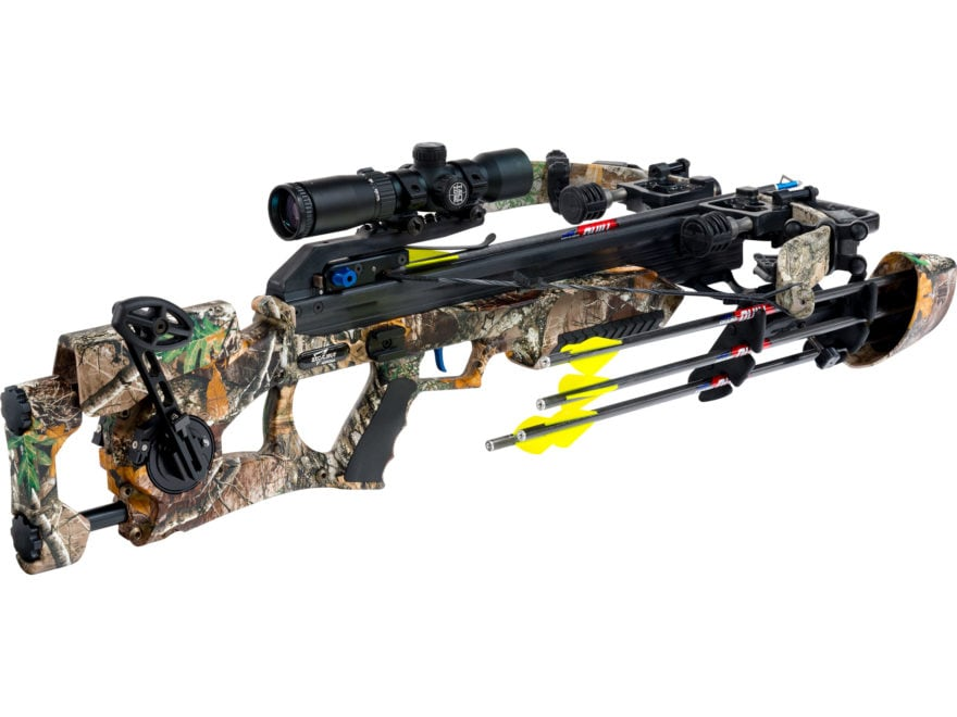 Excalibur Assassin 360 Crossbow Package Tact-Zone Illuminated Scope Realtree Edge Camo