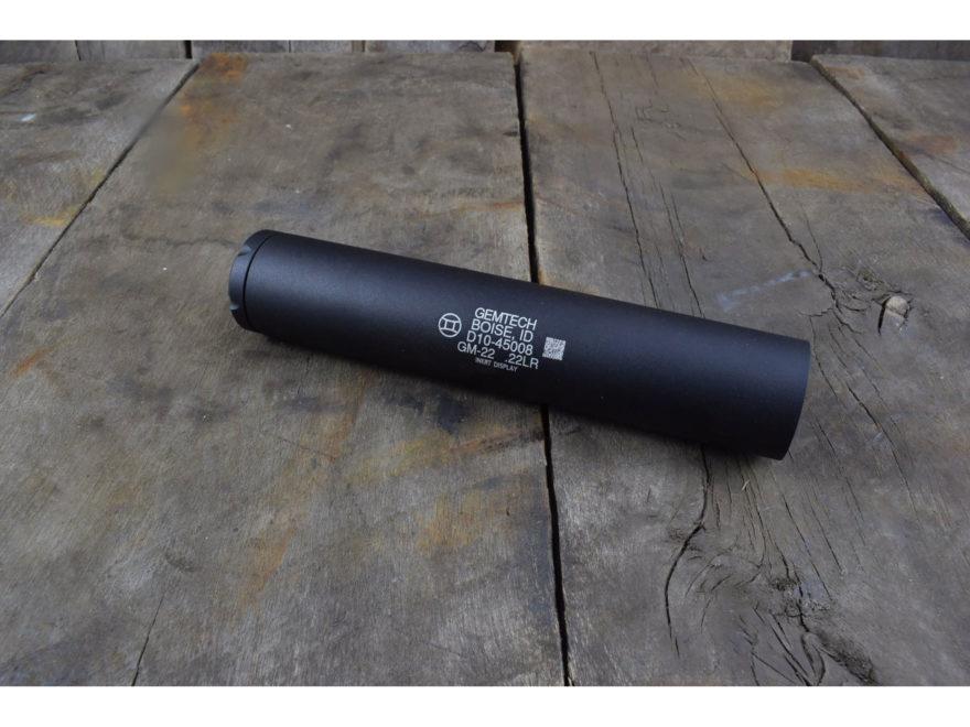 """Gemtech GM-22 Inert Display Suppressor 1/2""""-28 Threaded Aluminum Matte"""