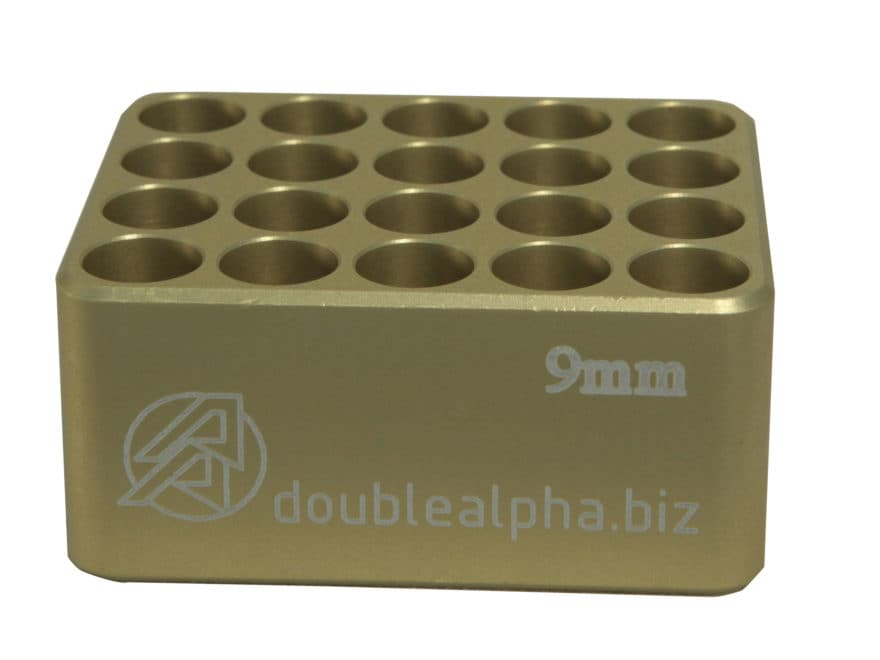 Double-Alpha Golden 20 Pocket Cartridge Gauge Anodized Aluminum