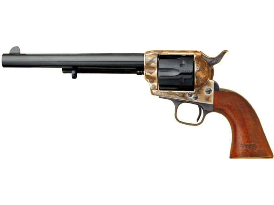 """Cimarron General Custer Revolver 45 Colt (Long Colt) 7.5"""" Barrel 6-Round Color Case Har..."""