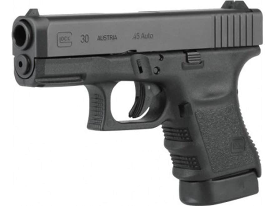 Glock 30SF Gen 3 Pistol 45 ACP Fixed Sights with Rail 10-Round Polymer Black