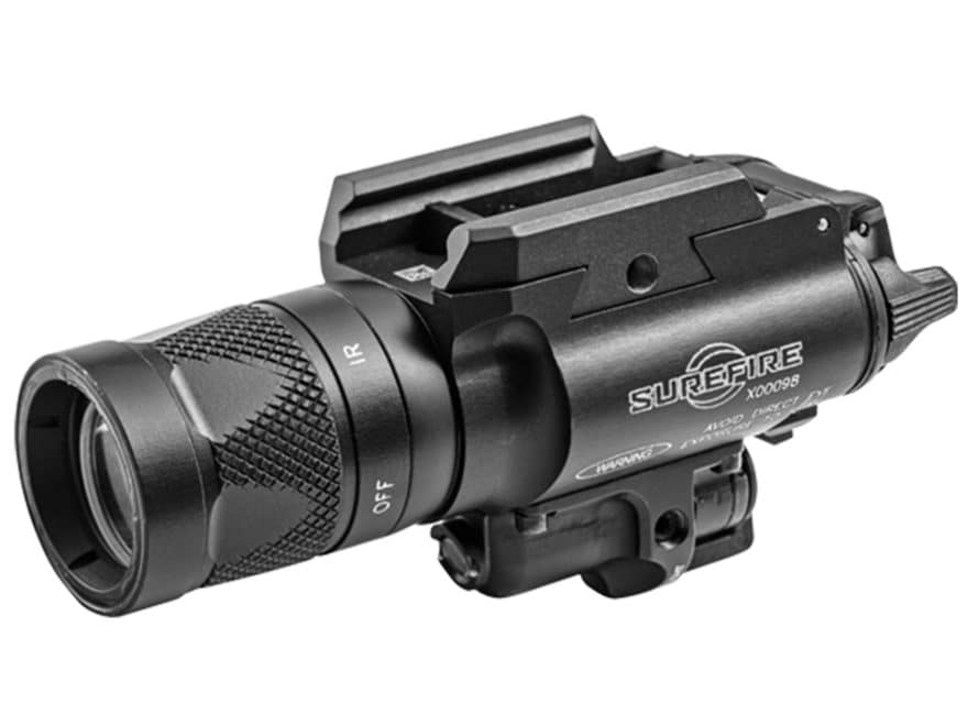 Surefire X400V Weapon Light White and IR LED with IR Laser with 2 CR123A Batteries Alum...