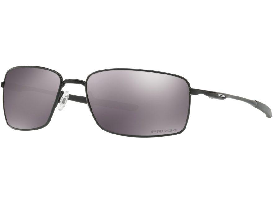 Oakley SI Square Wire Polarized Sunglasses Matte Black Frame/Prizm Black Lens
