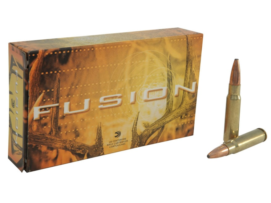 Federal Fusion Ammunition 338 Federal 200 Grain Spitzer Boat Tail Box of 20