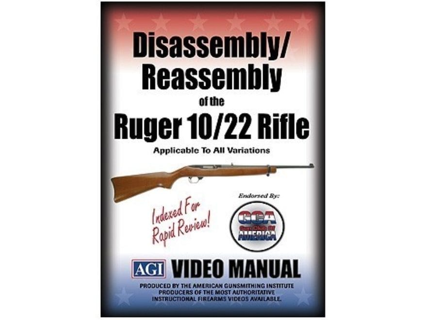"""American Gunsmithing Institute (AGI) Disassembly and Reassembly Course Video """"Ruger 10/..."""