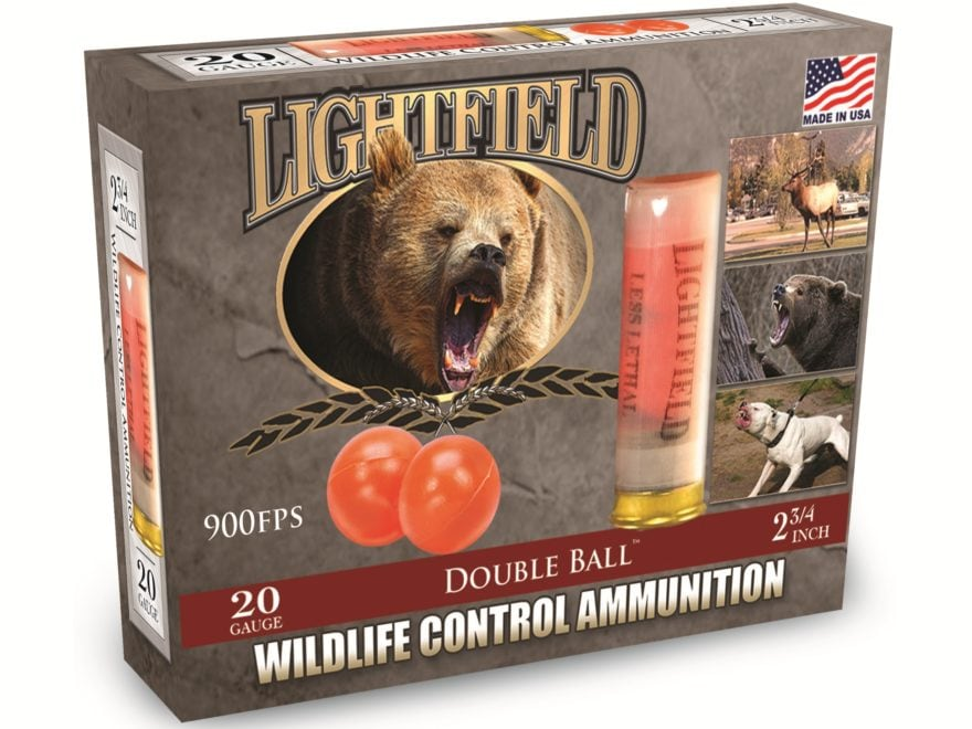 "Lightfield Wildlife Control Less Lethal Ammunition 20 Gauge 2-3/4"" Mid-Range Rubber Bal..."